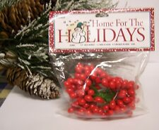 """1 Pack of 72 Double Ended Red Holly Berries 1/2"""" On Wire Stem Christmas Craft"""