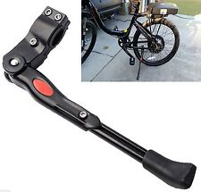 """Adjustable Aluminium Alloy Bike Bicycle Kickstand Side Fit for 20"""" 24"""" 26"""" Black"""