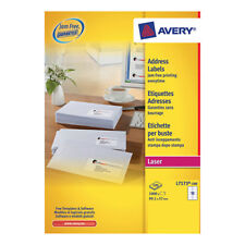 Avery Laser Labels White A4 Sheet Pk100 10