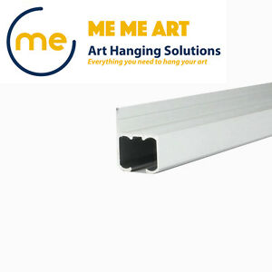 2m Picture Hanging Track Art Hanging Rail Wall Mounted Roller Rail Heavy Duty