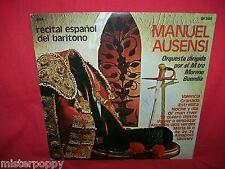 MANUEL AUSENSI Recital Espanol del Baritono LP 1973 ITALY MINT-
