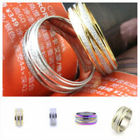 Very cool frosted stainless steel band ring multiple colours and sizes