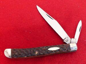 "Moore Maker USA mint 3.5"" closed size Red Bone 2014 gunstock 5200GS knife"