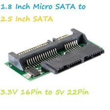 1.8 Inch 16PIN Micro SATA HDD SSD 3.3V to 2.5 Inch 22PIN SATA 5V Adapter Card