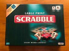 Scrabble Large Print by Tinderbox Games RNIB 25% Larger Tiles Wooden Tiles
