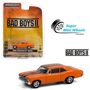Greenlight 1:64 Hollywood - Bad Boys II (2003) - 1968 Chevrolet Nova (Orange)