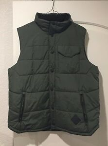 North Face Down Vest, Green, Large