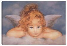 Quadro ANGELO 100x60 stelle madonna paradiso eden gesù cristo ali nuvola cielo