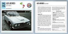 Alfa Romeo - 2600 Sprint 1962-66 High Performance Collectors Club Card