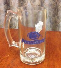 Vintage Penn State College Glass Mug Blue & White Nittany Lions PSU