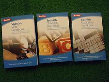 BERLITZ ENGLISH TO SPANISH LANGUAGE HANDBOOKS VOCABULARY GRAMMAR & VERB BOOKS