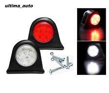 2X 12 LED SMD Mini Side Rubber Marker Lights Lamp Trailer Truck 12V Caravan New