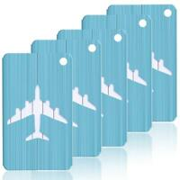 Aluminum Brushed Metal Finish Travel Luggage Tags Suitcase Labels Value Pack