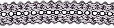 Black Feathered Eyelet (Coathanger) Lace (x 5 metres)