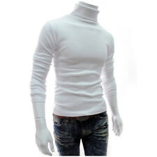 Men's Thermal High Collar Turtle Neck Skivvy Long Sleeve Sweater Stretch T-Shirt