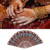 24 Henna Natural Tattoo Temporary Cones Kaveri Body Ink Paste Art Hot Kit U6V4