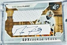 2003-04 SPx #222 Marc-Andre Fleury Rookie Card RC Auto/Jersey Card 321/500