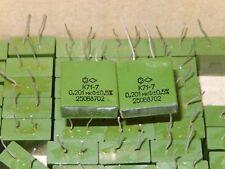 0.201uF 250V  0.5% K71-7 Polystyrene capacitors Lot of 10pcs