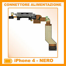 CONNETTORE CARICA DOCK MICROFONO RICARICA SPEAKER FLEX PER APPLE IPHONE 4 NERO