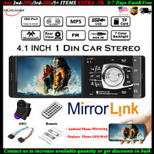 4.1'' Single 1 Din Car MP5 MP3 Player Stereo Wheel Control FM TF BT Radio