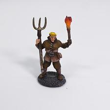 Painted Miniature Townsfolk  Peasant, Pathfinder Rpg, DnD, Reaper Bones