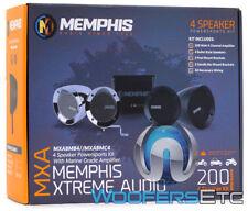 MEMPHIS MXABMB4 BLACK ATV UTV MOTORCYCLE 4 BULLET SPEAKERS 4-CHANNEL AMPLIFIER