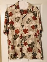 Caribbean Men's Hawaiian Shirt Rayon Big Floral Aloha Flower XL