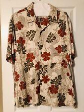 Caribbean Men's Hawaiian Camp Shirt Rayon Big Floral Aloha Flower XL