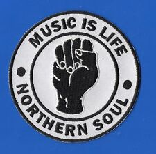 NORTHERN SOUL FIST Music Is Life PATCH