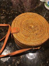 Boho Bali round woven handmade crossbody bag
