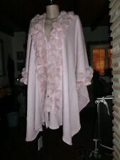 Italy Style Cape Poncho Umhang Mantel Trendy Kaninchen Pelz Altrosa EG 40-52