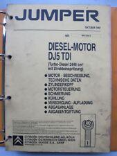 Werkstattbuch Reparaturleitfaden Citroen Jumper Diesel Motor #17154