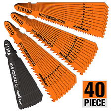 Metal And Woodworking Jig Saw Blade Set Storage Case T Shank Blades 40 Pcs New