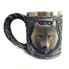 Wolf Coffee Cup Stainless Steel 3D Wolf Tea Travel Drinking Resin Mugs