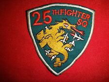 Korea War Patch US Air Force 25th Fighter Squadron PILSUNG !