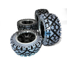 King Motor All Terrain Tires on Poison HD Rims (Set of 4) Wheels Fit HPI Baja 5B
