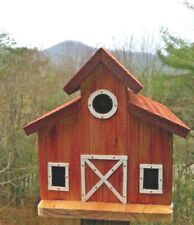 The Old Barn Bird House Solid Cedar Wood Unique Handmade in Usa