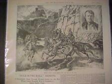 VINTAGE NEWSPAPER HEADLINE ~TRAIN ROBBERS HOLE-IN-THE-WALL BUTCH CASSIDY GANG