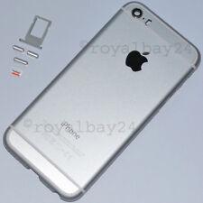 iPhone 5s in iphone 6s-look Aluminium Mittel-Rahmen Silber Gehäuse+Tasten NEU!