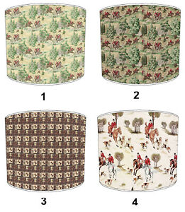 Fox Hunting Scene Tally Ho Lampshades Bedding Duvets Curtains Cushion Covers
