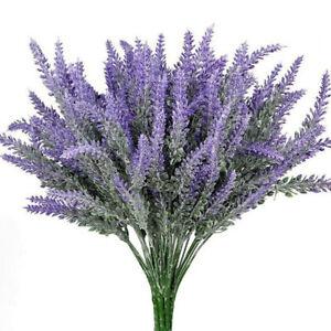 Artifical Lavender Flower Bouquet Fake Plant Home Wedding Party Office Decor