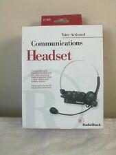 RadioShack 12-1831 Vintage Voice Activated Communications Adjustable Headset.