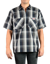 ORIGINAL BEN DAVIS HALF ZIP SLEEVE SHIRT PLAID NAVY/GREY (Workwear since 1935)