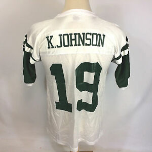 Mint NOS Vintage 90s K Johnson Starter NFL New York Jets Football Jersey Shirt
