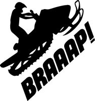 Snowmobile (BRAAAP) funny vinyl decal sticker sled