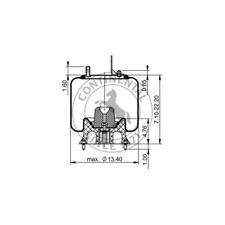 Continental Elite 64327 Molded Heater Hose Continental ContiTech