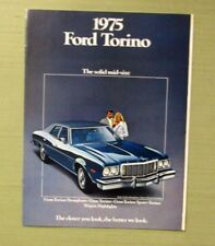 1975 FORD TORINO Dealer Sales Brochure Fold Out Family Children Doll Wagons 10p
