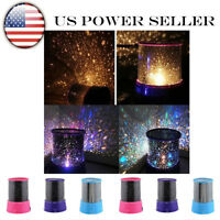 US Children Bedroom LED Night Light Projector Starry Sky Star Master Lamp 1pcs