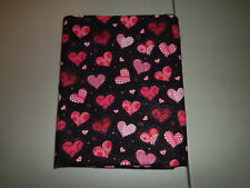 1-Glittery Sparkle Hearts for Valentine's Day Queen Size Pillowcase New-Handmade