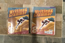 BJU 3rd ED Writing and Grammar 8 Student Textbook, Tests, and Teacher's Text.